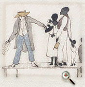 A typical slave auction in the New World (watercolour by Henry Byam Martin, courtesy Library and Archives Canada/C-115001)